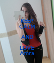 KEEP CALM AND LOVE Amra - Personalised Poster large