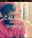 keep CALM and love angel limelight  - Personalised Poster large