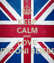 KEEP CALM AND LOVE ANTIGONI BEIEBER. - Personalised Poster large