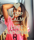KEEP CALM AND LOVE ANTONIA - Personalised Poster large
