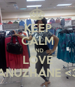 KEEP CALM AND LOVE ANUZHANE <3 - Personalised Poster small