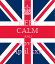 KEEP CALM AND Love  April xxx - Personalised Poster large