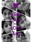 KEEP CALM AND LOVE AQI - Personalised Poster large