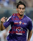 KEEP CALM AND LOVE AQUILANI - Personalised Poster large