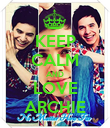 KEEP CALM AND LOVE ARCHIE - Personalised Poster large