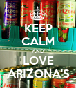 KEEP CALM AND LOVE ARIZONA'S - Personalised Poster large