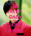 KEEP CALM AND LOVE Arnies - Personalised Poster small