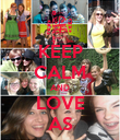 KEEP CALM AND LOVE AS - Personalised Poster large