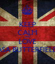 KEEP CALM AND LOVE ASA BUTTERFIELD - Personalised Poster large