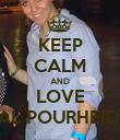 KEEP CALM AND LOVE ASAL POURHEIDARI - Personalised Poster large