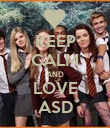 KEEP CALM AND LOVE ASD - Personalised Poster large