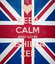KEEP CALM AND LOVE ASHILLA ZEE - Personalised Poster large