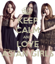 KEEP CALM AND LOVE ASIAN GIRLS - Personalised Poster large