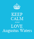 KEEP CALM AND LOVE Augustus Waters - Personalised Poster large