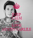 KEEP CALM AND LOVE AUSTIN CARLILE - Personalised Poster large