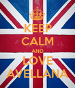 KEEP CALM AND LOVE AVELLANA - Personalised Poster large