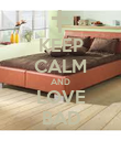 KEEP CALM AND LOVE BAD - Personalised Poster large