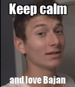 Keep calm and love Bajan - Personalised Poster large