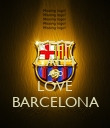 KEEP CALM AND LOVE BARCELONA - Personalised Poster large