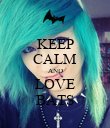 KEEP CALM AND LOVE BATS - Personalised Poster large