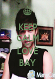 KEEP CALM AND LOVE BAY - Personalised Poster large