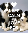 KEEP CALM AND LOVE BCS - Personalised Poster small