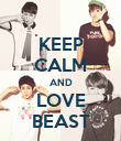 KEEP CALM AND LOVE BEAST - Personalised Poster large