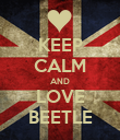 KEEP CALM AND LOVE BEETLE - Personalised Poster large
