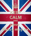 KEEP CALM AND Love  Betsy may xx - Personalised Poster large