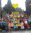 KEEP CALM AND LOVE BHY ONE - Personalised Poster large