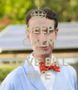 KEEP CALM AND LOVE BILL NYE - Personalised Poster large