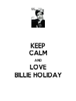 KEEP CALM AND LOVE BILLIE HOLIDAY - Personalised Poster large