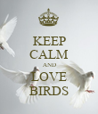 KEEP CALM AND LOVE BIRDS - Personalised Poster large