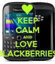 KEEP CALM AND LOVE  BLACKBERRIES - Personalised Poster large