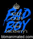 KEEP CALM AND love blackberry's - Personalised Poster large