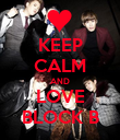 KEEP CALM AND LOVE BLOCK B - Personalised Poster large