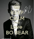 KEEP CALM AND Love  BO BEAR - Personalised Poster large