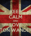 KEEP CALM AND LOVE BOLTON WANDERERS - Personalised Poster large