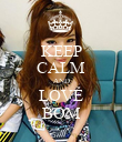 KEEP CALM AND LOVE BOM - Personalised Poster large