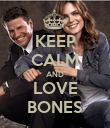 KEEP CALM AND LOVE BONES - Personalised Poster large