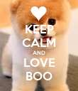 KEEP CALM AND LOVE BOO - Personalised Poster large