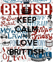 KEEP CALM AND LOVE BRITTISH - Personalised Poster large