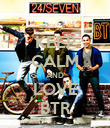 KEEP CALM AND LOVE BTR - Personalised Poster large