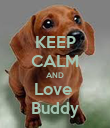 KEEP CALM AND Love  Buddy - Personalised Poster large