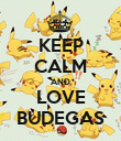 KEEP CALM AND LOVE BUDEGAS - Personalised Poster large