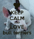 KEEP CALM AND LOVE bull terriers - Personalised Poster large