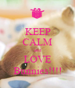 KEEP CALM and LOVE Bunnies!!!! - Personalised Poster large