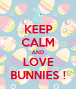KEEP CALM AND LOVE BUNNIES ! - Personalised Poster large