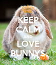 KEEP CALM AND LOVE BUNNYS - Personalised Poster large