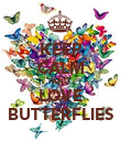 KEEP CALM AND LOVE BUTTERFLIES - Personalised Poster large